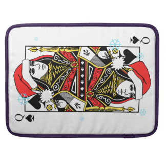 Merry Christmas Queen of Spades Sleeve For MacBook Pro