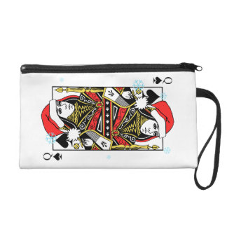 Merry Christmas Queen of Spades Wristlet