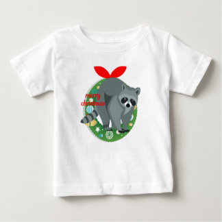 merry christmas raccoon baby T-Shirt