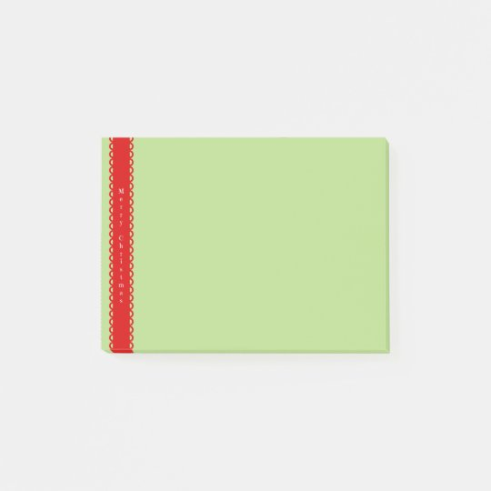 Merry Christmas, Red Banner Post-it Notes