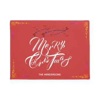 Merry Christmas Red - Doormat