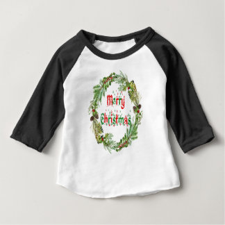 Merry Christmas red & green Baby T-Shirt