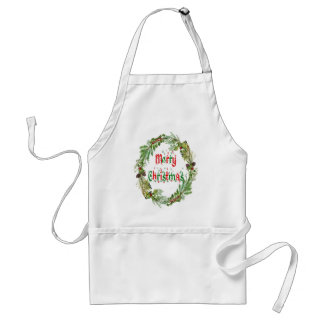 Merry Christmas red & green Standard Apron