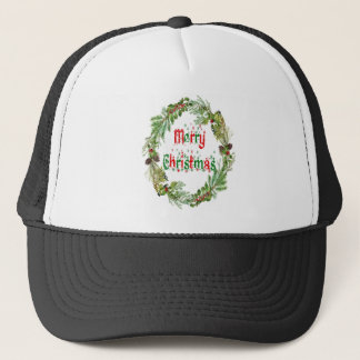 Merry Christmas red & green Trucker Hat