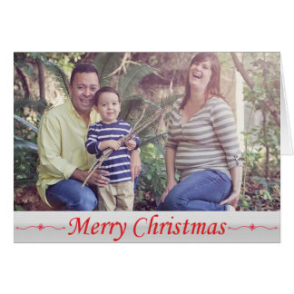Merry Christmas Red Lettering Greeting Card