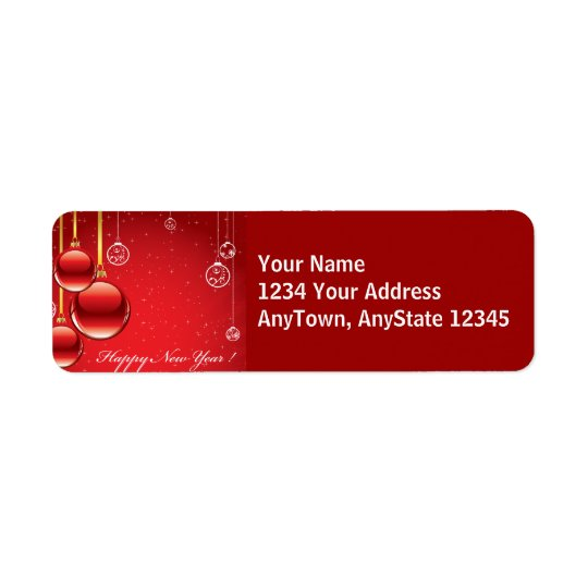 Merry Christmas Red Ornaments & Ribbons Template