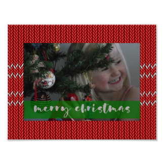 Merry Christmas Red Sweater Poster