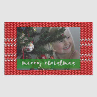 Merry Christmas Red Sweater Sticker