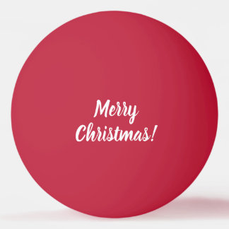 Merry Christmas red table tennis ping pong ball