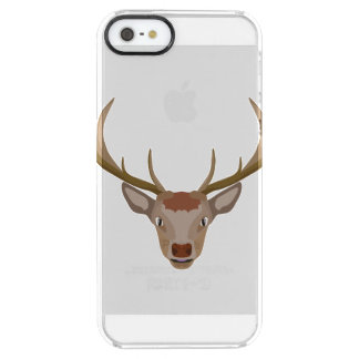 Merry Christmas Reindeer Clear iPhone SE/5/5s Case