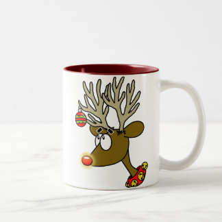 Merry Christmas Reindeer Coffee Cup