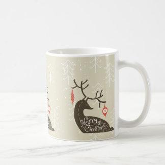 Merry Christmas Reindeer Cozy Coffee Mug