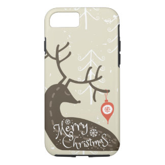 Merry Christmas Reindeer Cozy iPhone 8/7 Case