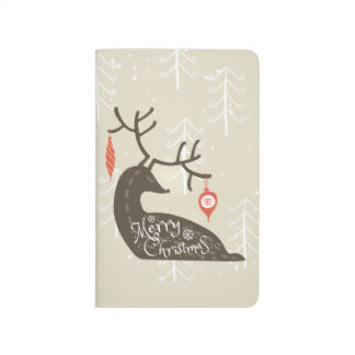Merry Christmas Reindeer Cozy Journal