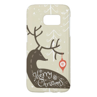Merry Christmas Reindeer Cozy Samsung Galaxy S7 Case