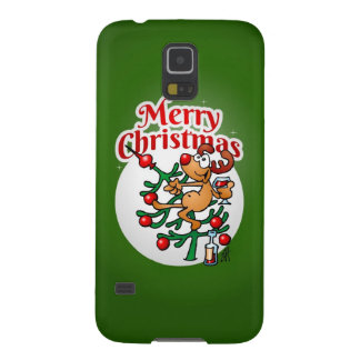 Merry Christmas - Reindeer in a Christmas tree Case For Galaxy S5