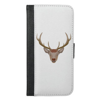 Merry Christmas Reindeer iPhone 6/6s Plus Wallet Case