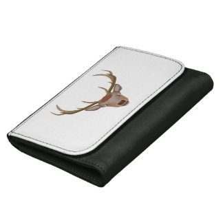 Merry Christmas Reindeer Leather Wallet For Women