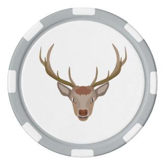 Merry Christmas Reindeer Poker Chip Set