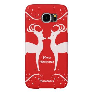 Merry Christmas reindeer Samsung Galaxy S6 Cases