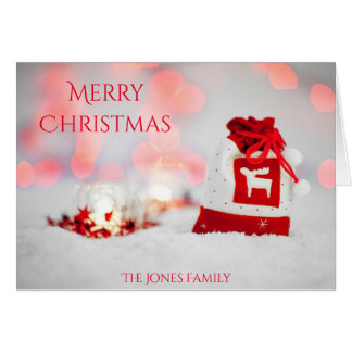 Merry Christmas Reindeer Sweater Bag Card