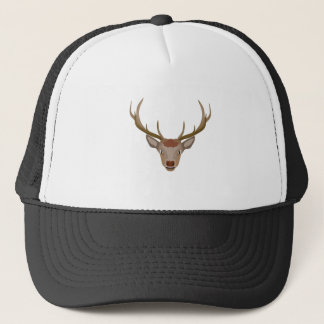 Merry Christmas Reindeer Trucker Hat