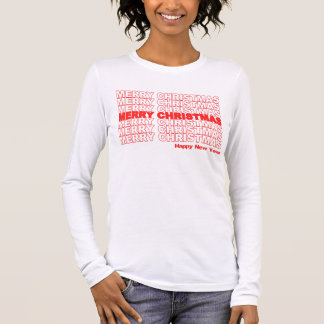 Merry Christmas Retro Holiday Long Sleeve T-Shirt