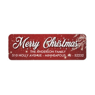 Merry Christmas Return Address Labels