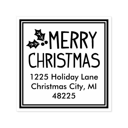 Merry Christmas | Return Address Self-inking Stamp