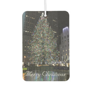 Merry Christmas Rockefeller Center NYC Xmas Tree Car Air Freshener