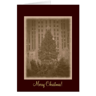 Merry Christmas- Rockefeller Center Tree-Vintage Card
