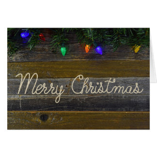 Merry Christmas rope and pine Card