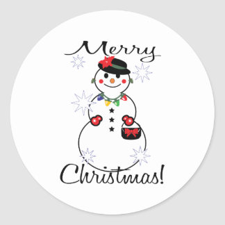Merry Christmas! Round Sticker