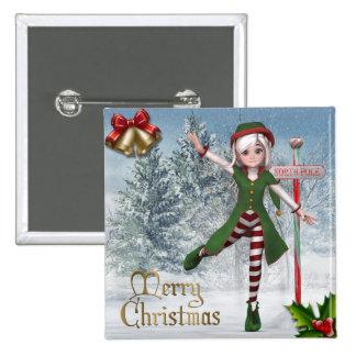 Merry Christmas Sadie Elf Button