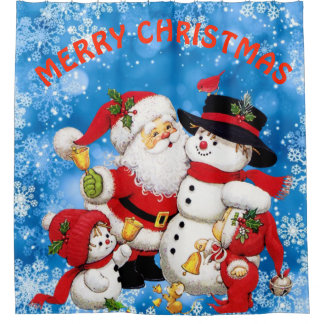 Merry Christmas Santa And Friends