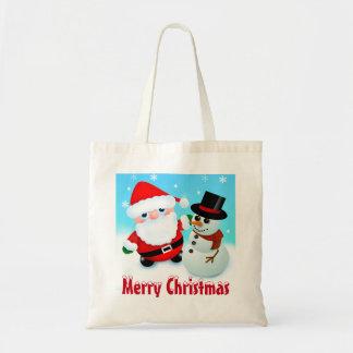 Merry Christmas, Santa and Snowman