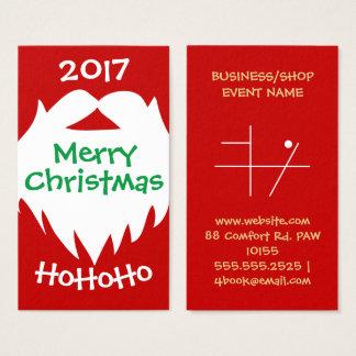 Merry Christmas Santa Beard Business Card