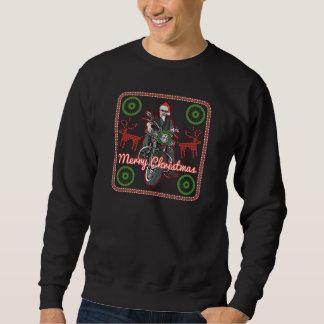Merry Christmas Santa Biker Motorcycle Holiday Sweatshirt
