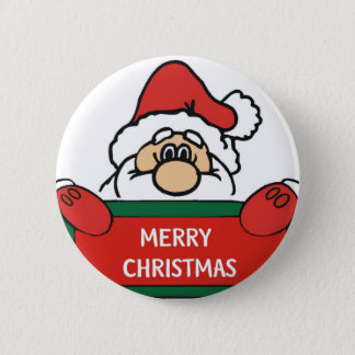 Merry Christmas Santa Claus 2 Inch Round Button