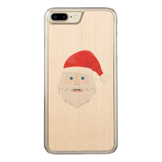 Merry Christmas Santa Claus Carved iPhone 7 Plus Case