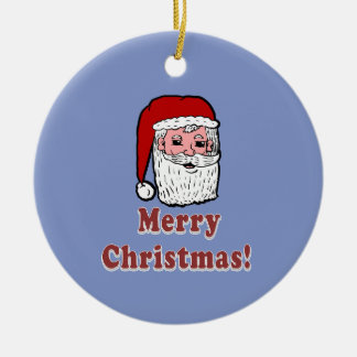 Merry Christmas Santa Claus Ceramic Ornament