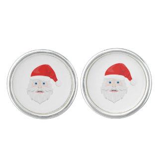 Merry Christmas Santa Claus Cuff Links