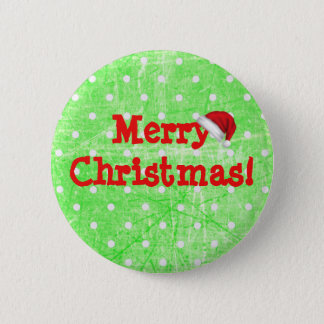 Merry Christmas  Santa Claus Hat Button