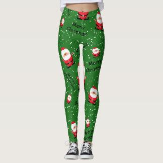 Merry Christmas Santa Claus Leggings