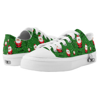 Merry Christmas Santa Claus Low-Top Sneakers