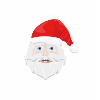 Merry Christmas Santa Claus Photo Sculpture Ornament