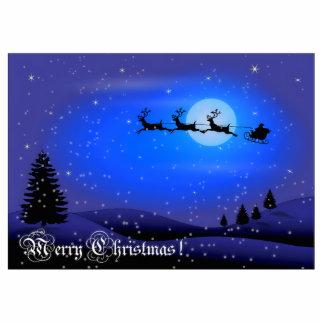 Merry Christmas Santa Claus Cut Out