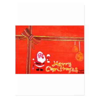 Merry Christmas Santa Claus Post Card