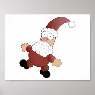 Merry Christmas Santa Claus Poster