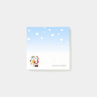 Merry Christmas,Santa Claus ,Snowman -Personalized Post-it Notes